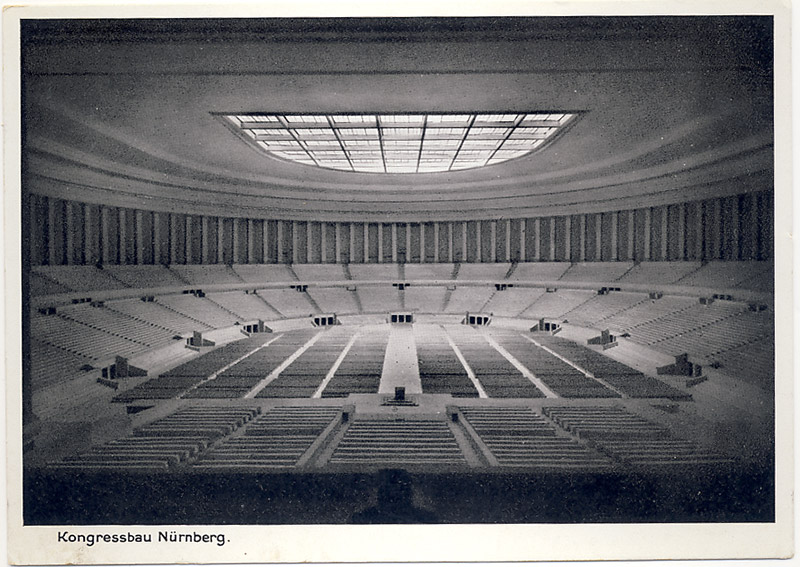 Construction of the Congress Hall in Nuremberg.
