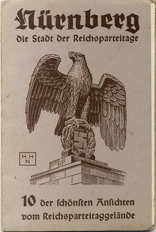 3 postcards from the Nuremberg Reich Party Rally in a folder