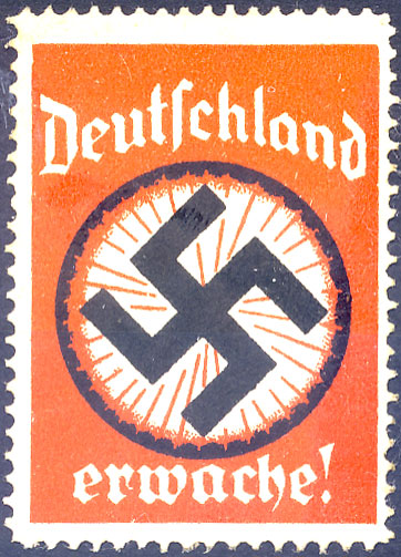 Poster stamp. Deutschland Erwache! Germany Wake up!