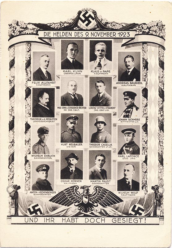 The Heroes of November 9th 1923.
