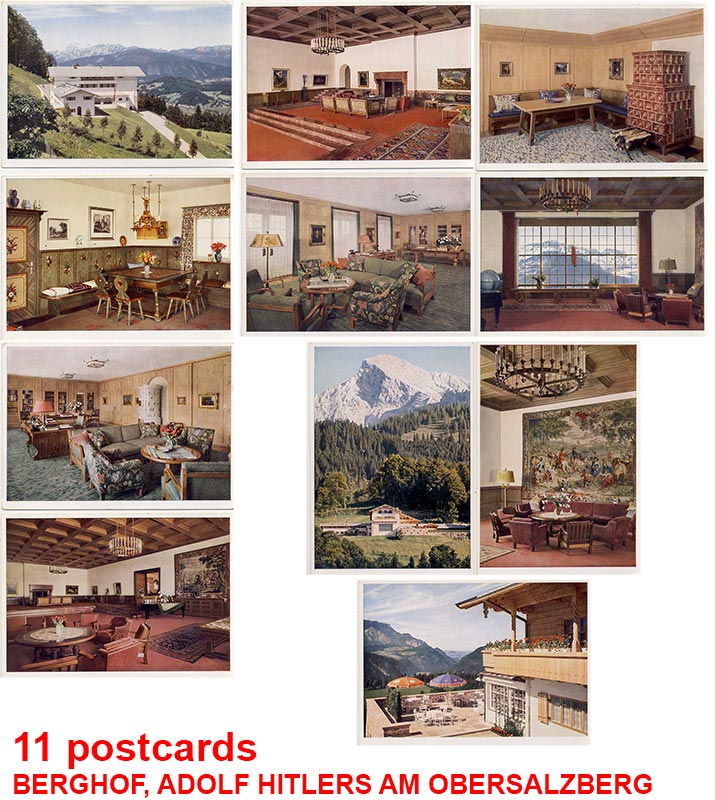11 color postcards from Hitlers Berghof (Obersalzberg)