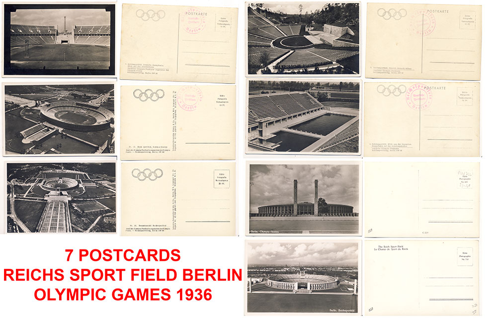 7 postcards from the Olympic Games 1936 (Reich sport field)
