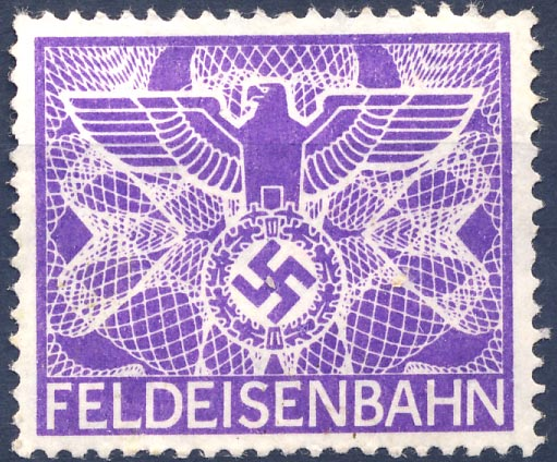 FELDEISENBAHN. Purple. No overprint