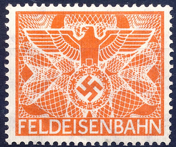FELDEISENBAHN. Orange. No overprint