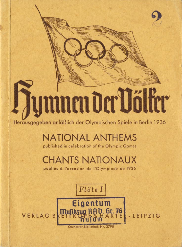 National Anthems. Olympic Games 1936.