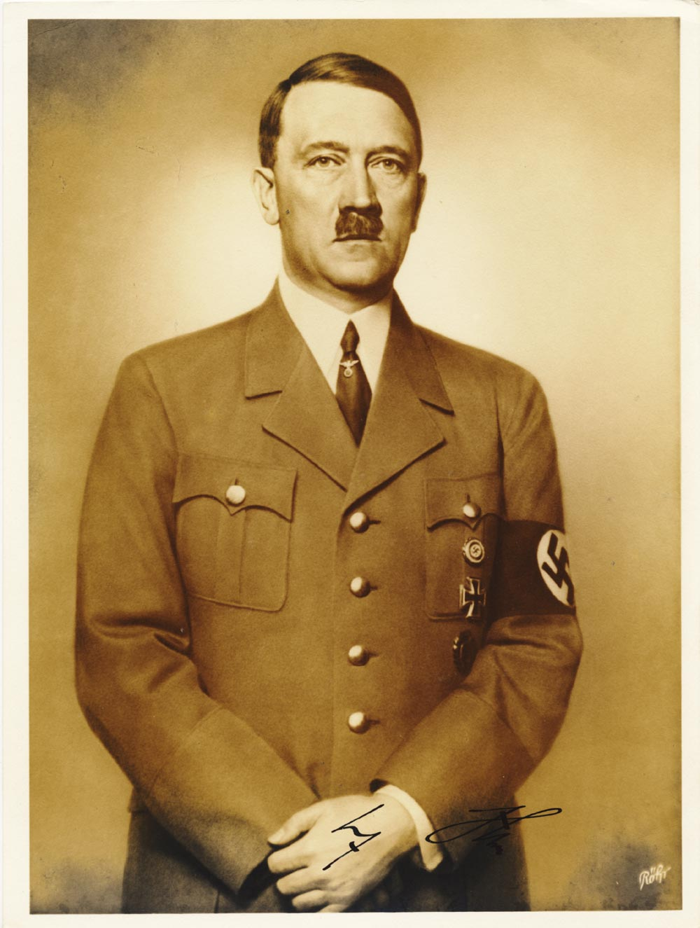 Genuine Hitler Signature.<br>Expertized. READ.