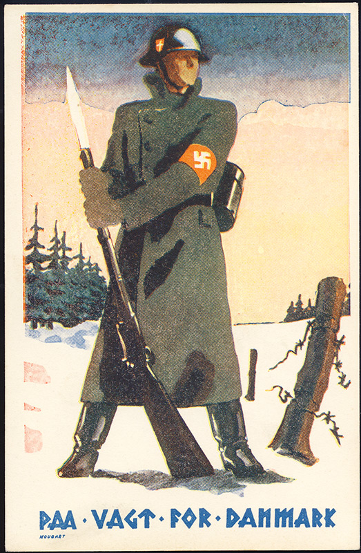 On Guard for Denmark. DNSAP propaganda.