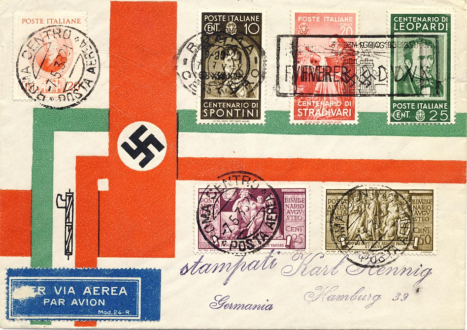 Facist Italian/Nazi German. San Marino stamps