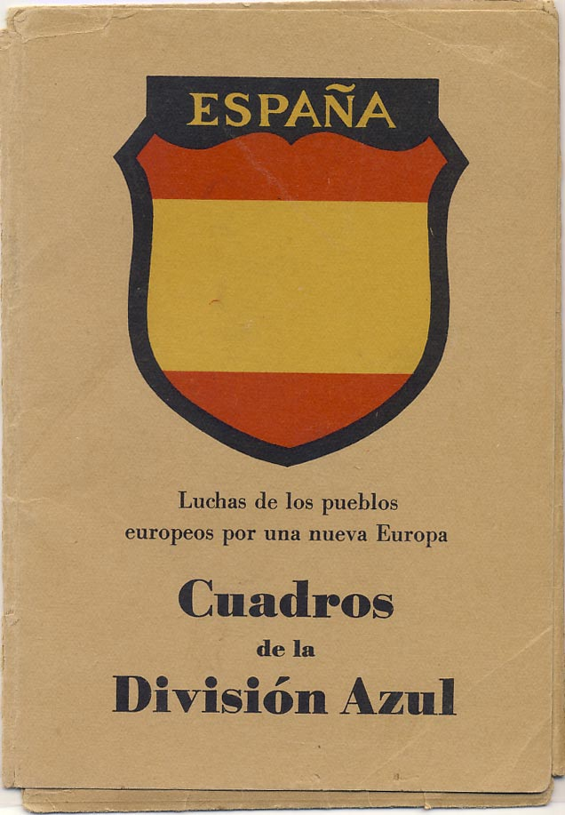 Spanish Blue Division. Folder + 10 postcards.