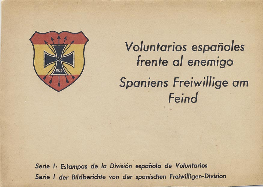 Spanish Blue Division. Folder + 12 postcards.