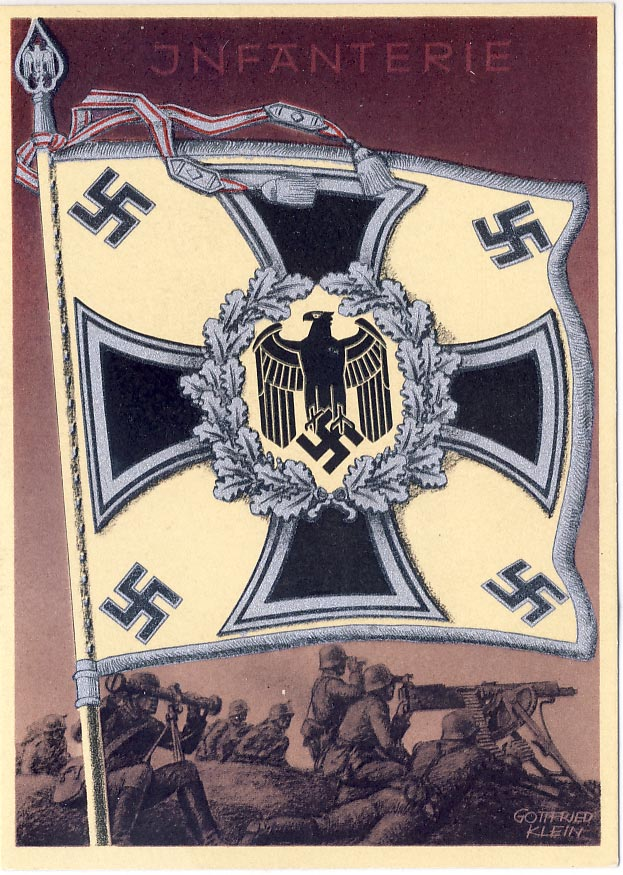 The Victory Flags and Stadards of the German Wehrmacht. Card no.