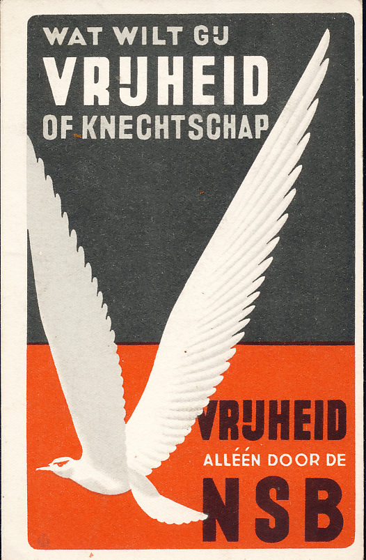 Dutch NSB propaganda postcard.