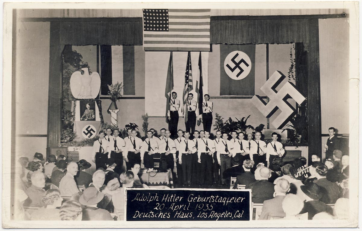 American Nazi party postcard send to Germany.