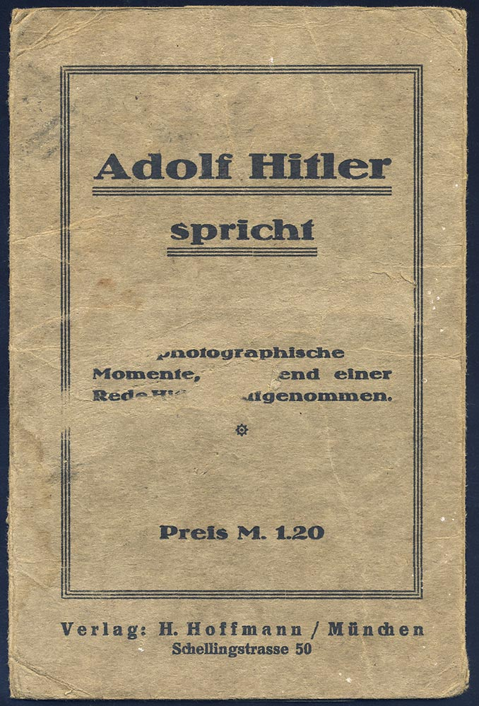 Adolf Hitler Speaks. Folder and 6 postcards. EARLY ISSUE. LOOK.