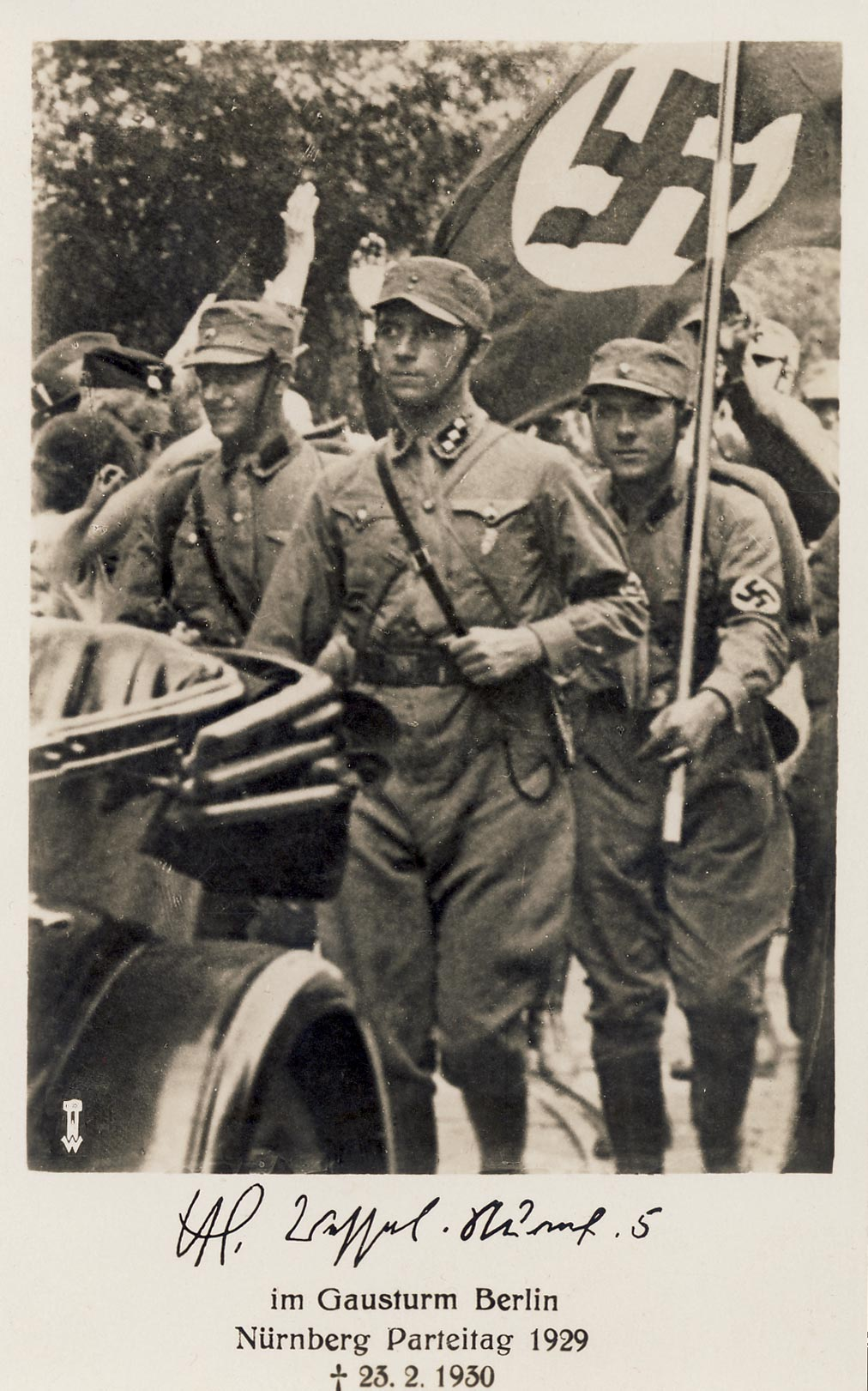 Horst Wessel postcard. Nürnberg Party Rally 1929
