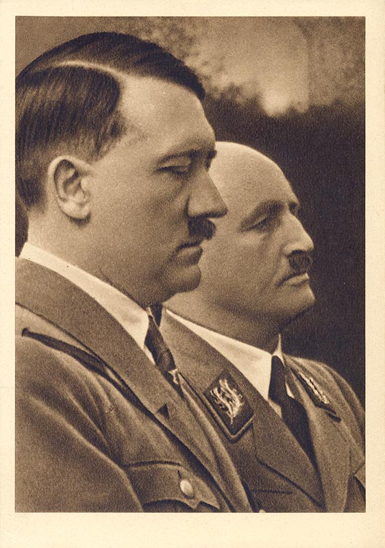 Hitler and Streicher. Scarce version (read description)