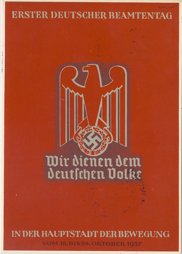 First German civil servant day 1937.