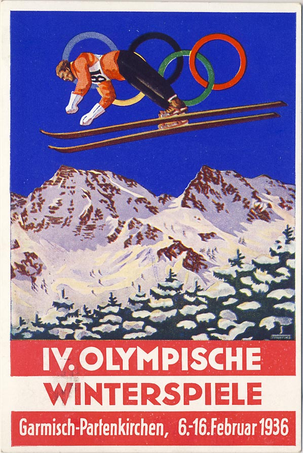Olympic Winter Games, Garmisch-Partenkirchen, February 1936.