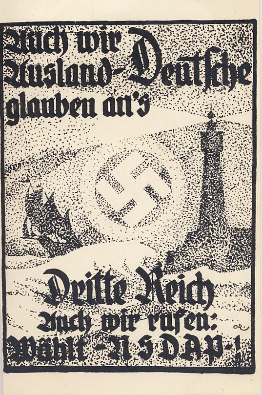 Also we foreign Germans believe in the Third Reich. We also call