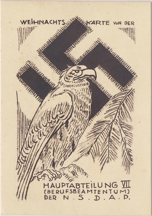 Christmas card from the main section VII of the NSDAP.